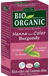 Henna - Farba Do Włosów Na Bazie Henny, Burgund, Vege, Halal, 100 G, Indus Valley