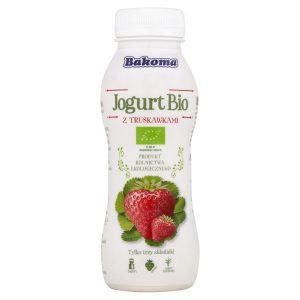 Jogurt Pitny Truskawka Bio 230 g - Bakoma