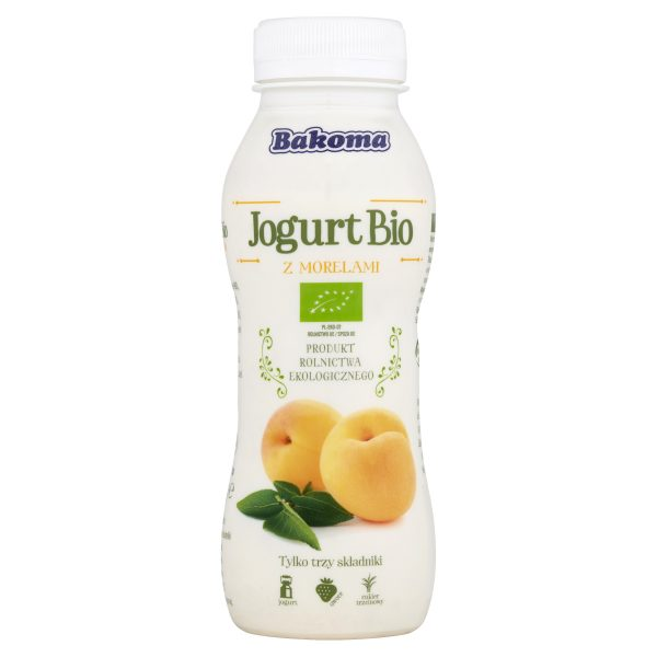 Jogurt Pitny Morela Bio 230 g - Bakoma