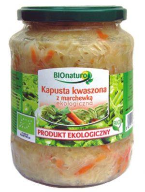 Kapusta Kiszona z Marchewką Bio 680g / Bionaturo