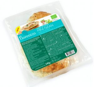 Chleb Mini Naan Czosnek i Kolendra Bio 240 g - Florentin