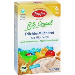 Kaszka Mleczna Zbożowa Jabłko- Banan- Pomarańcza Powyżej 6 M-Ca Bio 200 g - Topfer