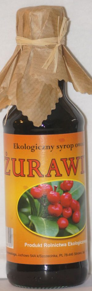 Syrop Żurawinowy Bio 200 Ml - Juchowo
