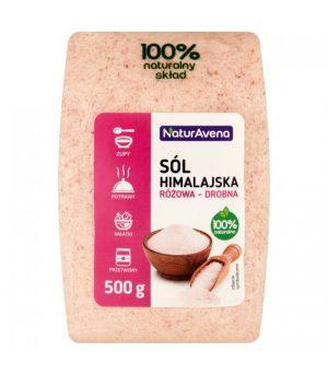 Sól Himalajska Różowa Drobna 500g