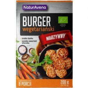 Burger Wegetariański Warzywny Bio 200 g - Naturavena