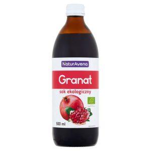 Sok z Granatu 100% Bez Cukru Bio 500 Ml - Naturavena