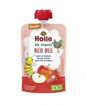 Mus Czerwona Pszczółka Jabłko, Truskawka Bio 100 g - Holle