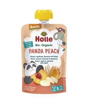 Mus Brzoskwiniowa Panda Brzoskwinia, Morela, Banan, Orkisz Bio 100 g - Holle