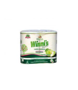 Naturalny, Miękki, Biodegradowalny, Wolny Od Chloru Papier Toaletowy, 4 Rolki, Winnis