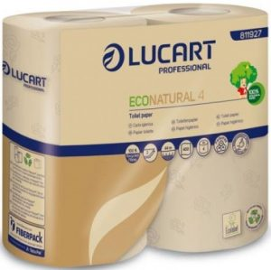 Papier Toaletowy Econatural 4, 100% Celuloza, 4 Rolki, Lucart Professional