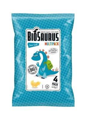 Chrupki Kukurydziane z Solą Morską Bezglutenowe Bio (4X15 G) - Biosaurus