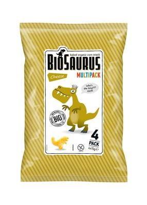 Chrupki Kukurydziane o Smaku Serowym Bezglutenowe Bio (4X15 G) - Biosaurus