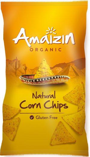 Chipsy Kukurydziane Solone Bezglutenowe Bio 250 g - Amaizin