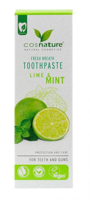 Cosnature Naturalna Pasta Do Zębów o Smaku Limonka-Mięta 75ml