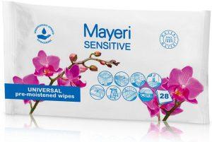 Mayeri Chusteczki Do Czyszczenia Uniwersalne Sensitiv 28szt