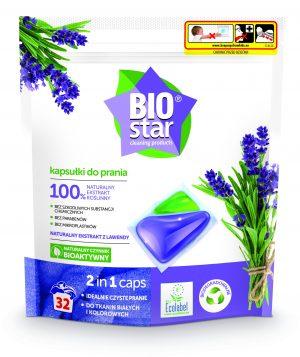 Biostar Cleaning Products Kapsułki Do Prania 2 In 1 Caps 32 szt