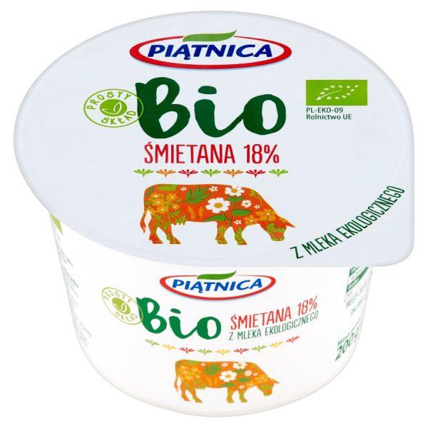 Śmietana 18% Bio 200 g - Piątnica