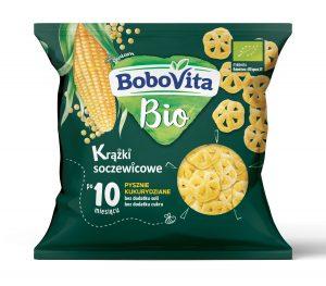 Chrupki Krążki Soczewicowe - Pysznie Kukurydziane Po 10 Miesiącu Bio 20 g - Bobovita