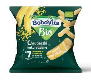 Chrupeczki Kukurydziane - Wyśmienicie Bananowe Po 7 Miesiącu Bio 20 g - Bobovita