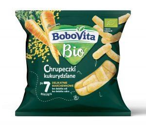 Chrupeczki Kukurydziane - Delikatnie Marchewkowe Po 7 Miesiącu Bio 20 g - Bobovita