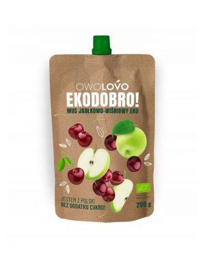 Mus Jabłkowo- Wiśniowy 200 g Bio - Owolovo