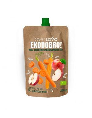 Mus Jabłkowo- Marchewkowy 200 g Bio - Owolovo