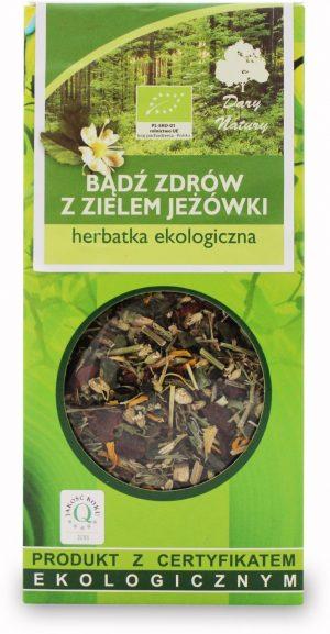Herbatka Bądź Zdrów z Zielem Jeżówki Bio 50 g - Dary Natury