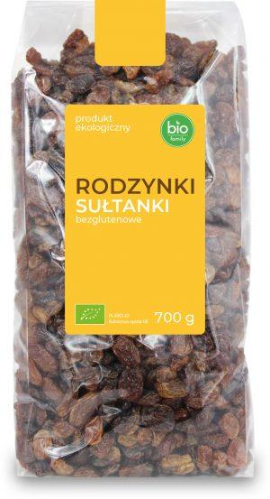 Rodzynki Sułtanki Bezglutenowe Bio 700 g - Bio Family