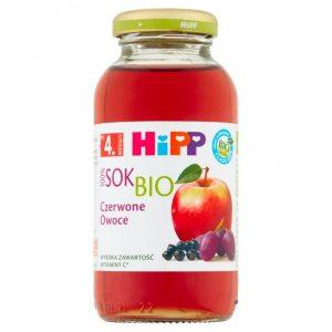 Hipp Sok Czerwone Owoce - Po 4 Miesiącu