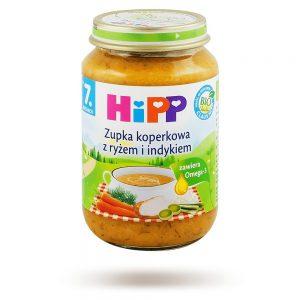 Hipp Zupka Koperkowa z Ryżem i Indykiem Bio - Po 7 Miesiącu