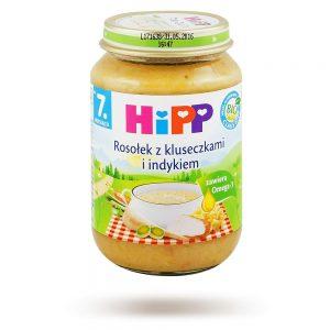 Hipp Zupka Rosołek z Kluseczkami i Indykiem Bio - Po 7 Miesiącu