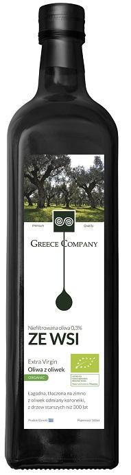 Oliwa z Oliwek Extra Virgin ze Wsi Bio 500 Ml - Greece Company