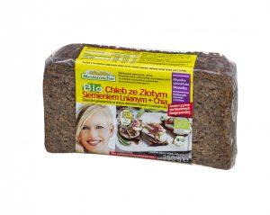 Chleb Złote Siemię Lniane i Chia Bio 350 g - Mestemacher