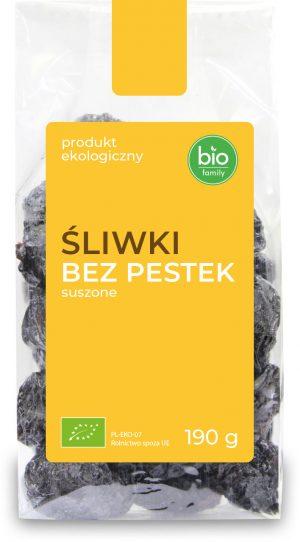 Śliwki Bez Pestek Suszone Bio 190 g - Bio Family