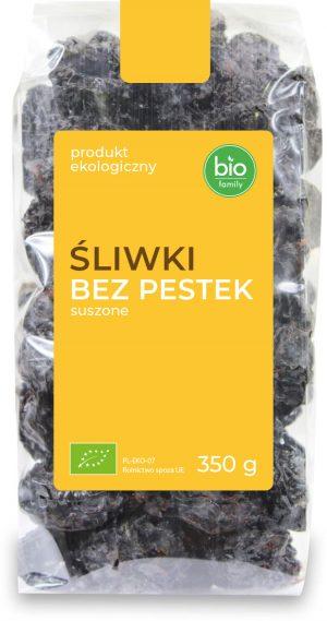 Śliwki Bez Pestek Suszone Bio 350 g - Bio Family