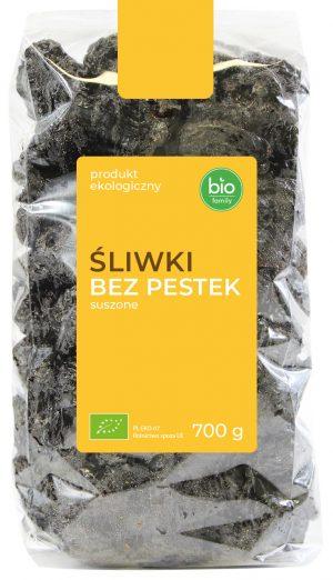 Śliwki Bez Pestek Suszone Bio 700 g - Bio Family