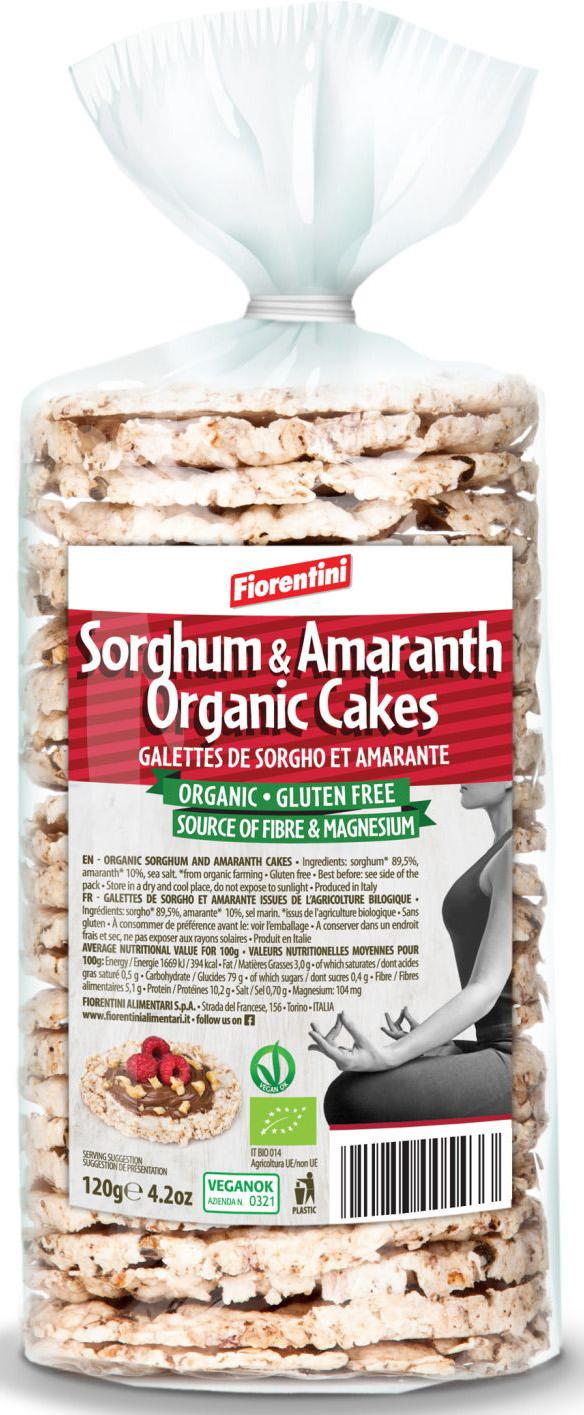 Wafle Amarantusowe z Sorgo Bio 120 g - Fiorentini