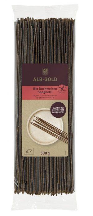 Makaron (Gryczany) Spaghetti Bezglutenowy Bio 500 g - Alb Gold (Alb Natur)