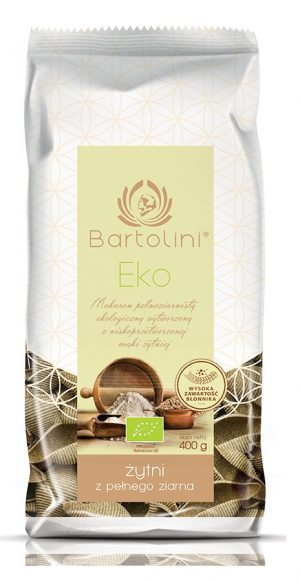Makaron (Żytni Razowy) Muszla Bio 400 g - Bartolini