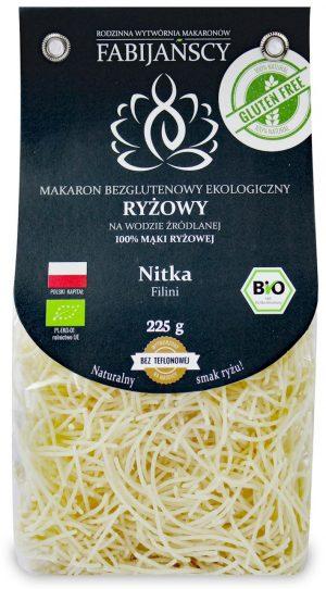Makaron (Z Ryżu Białego) Nitka Filini Bezglutenowy Bio 225 g - Fabijańscy