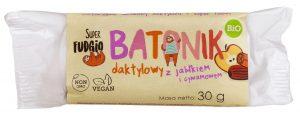 Baton Daktylowy z Jabłkiem i Cynamonem Bio 30g - Super Fudgio