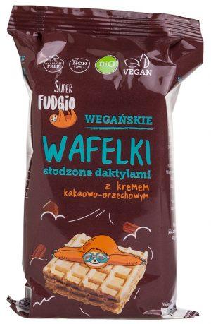 Wafle z Kremem Daktylowym Bio 4X30 g - Super Fudgio