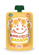 Mus Jabłko, Marchew, Banan Bio 90 g - Novofruct