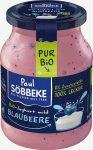 Jogurt Kremowy Jagodowy (3,8 % Tłuszczu w Mleku) Bio 500 g (Słoik) - Sobbeke