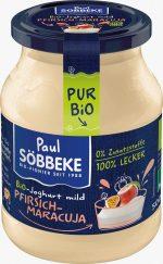 Jogurt Kremowy Brzoskwinia - Marakuja (3,8 % Tłuszczu w Mleku) Bio 500 g (Słoik) - Sobbeke