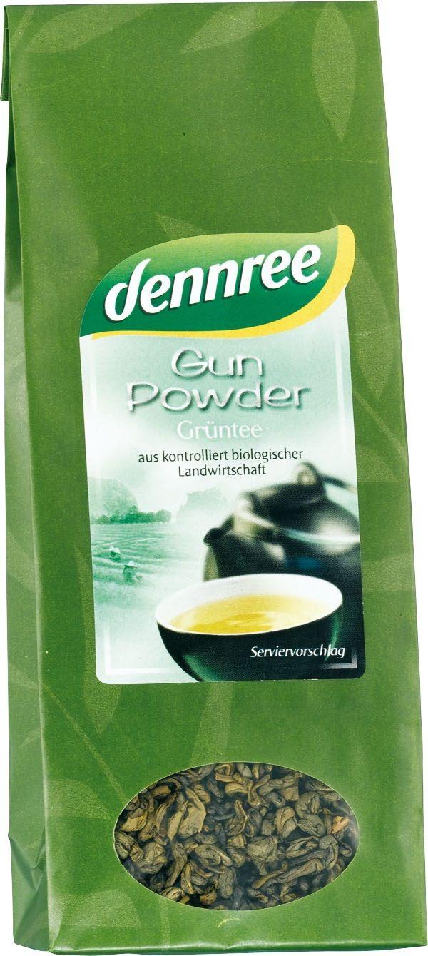 Herbata Zielona Gunpowder Liściasta Bio 100 g - Dennree