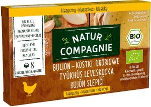 Bulion - Kostki Drobiowe Bez Dodatku Cukrów Bio 80 g - Natur Compagnie