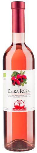 Wino Dzika Róża Różowe Słodkie Bio 0,75 l - Potęga Tradycji