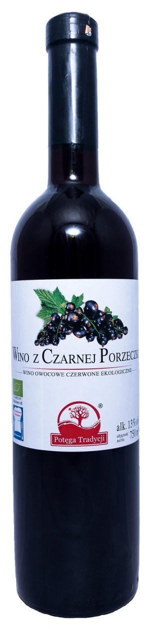 Wino Czarna Porzeczka Słodkie Bio 0,75 l - Potęga Tradycji