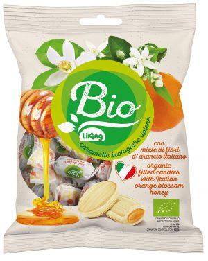 Cukierki z Nadzieniem z Miodu z Kwiatów Pomarańczy Bezglutenowe Bio 90 g - Liking